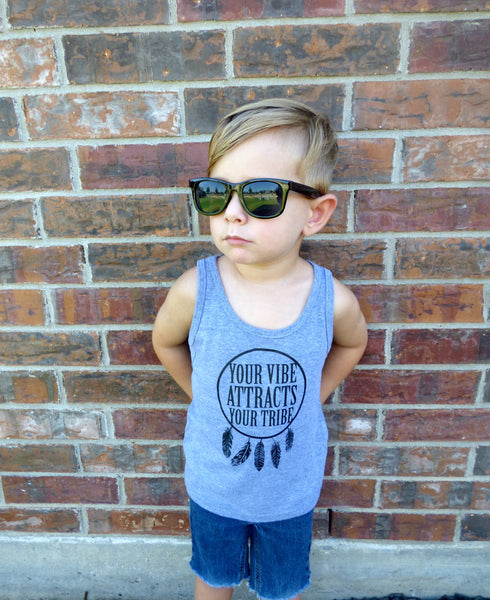 Your Vibe Attracts Your Tribe Toddler Tank Top