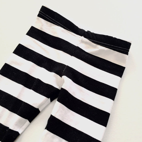 Black and White Stripe Baby and Toddler Leggings