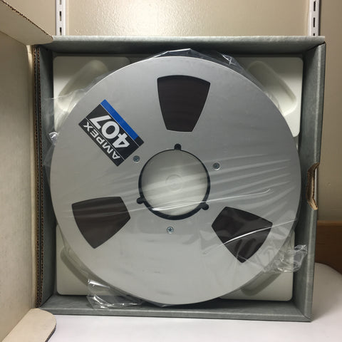 "1"" Ampex 407 Tape Reel 10.5"" Diameter with Box"