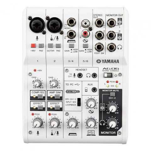AG06 6-channel mixer/USB audio interface