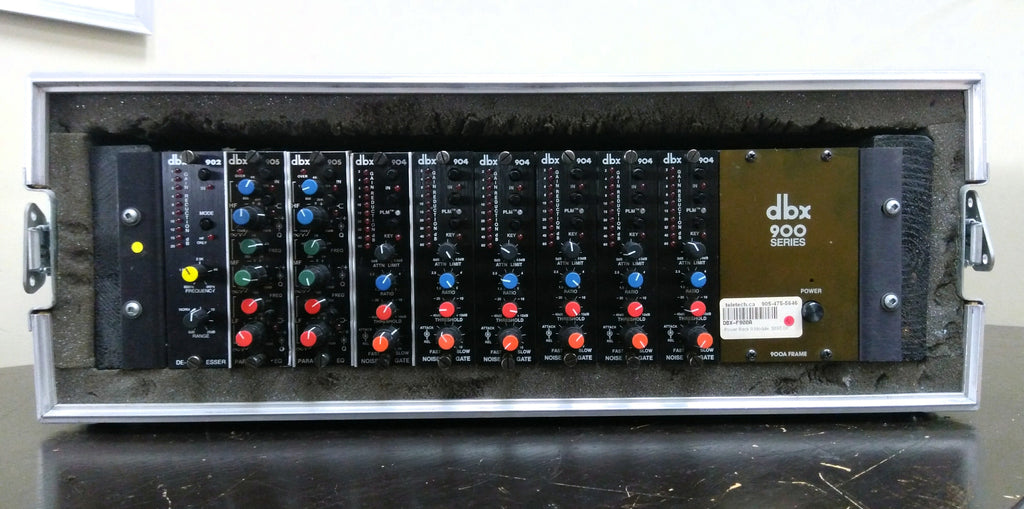 DBX 900 - 9 Slot Modular Signal Processing System with added modules