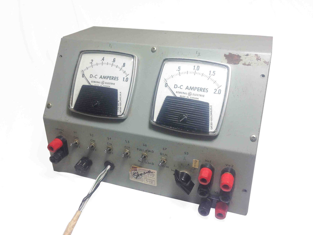 General Electric DC Amperes - Amp Meter