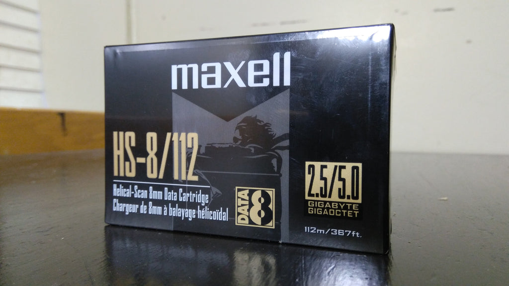 Maxell 2.5/5.0GB 8MM HS-8/112 Data Cartridge for Helical Scan Drives
