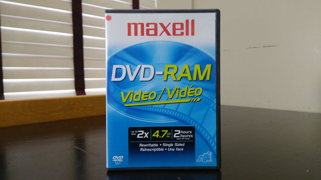 Maxell DVD-RAM 4.7 GB Video 2x Rewritable Disc with DVD Case