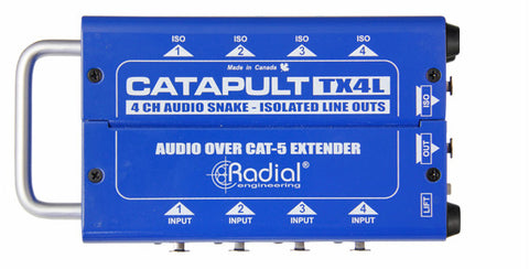 Radial Catapult TX4L 4-Channel Cat-5 Line-Level Audio Snake (Transmitter)