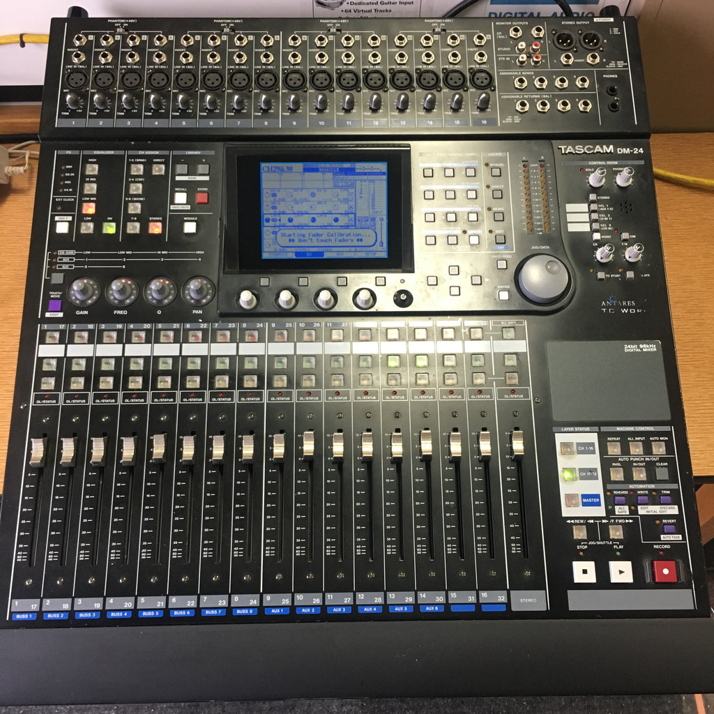 Tascam DM-24 Digital Mixer with 2 cards, IF-CS/DM and IF-AD/DM
