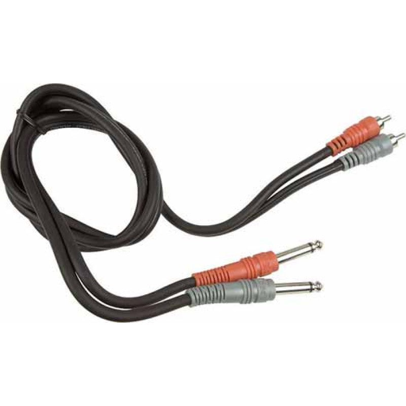 "Hosa CPR-206 Stereo Interconnect Cable - Dual 1/4"" TS to Dual RCA, 6m"