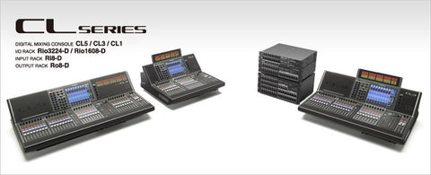CL Series digital 48kHz Centralogic mixing consoles