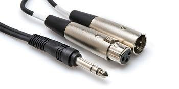"Hosa Src-204 Audio Cable 4m 1/4"" Trs To Xlr3m And Xlr3f"