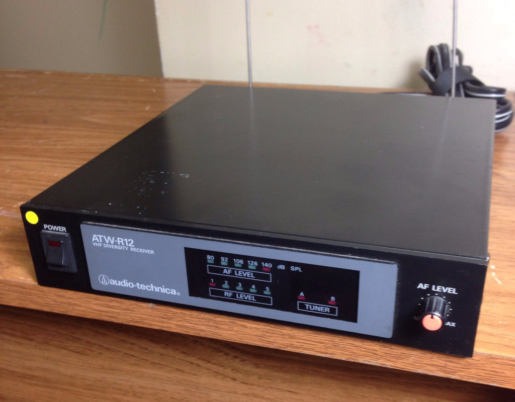 Audio-Technica ATW-R12 VHF Diversity Receiver with Antennas