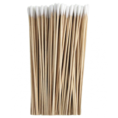 Wood handle cotton tipped swabs (100 pcs)