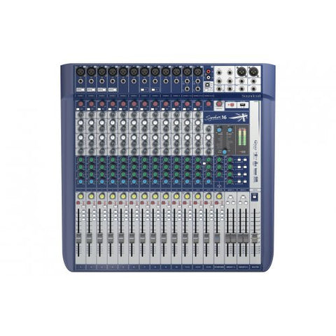 Soundcraft Signature 16, Compact Analog Mixer with USB