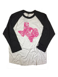 Wild Flower Texas Baseball Tee