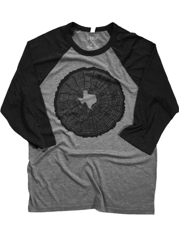 Texas Tree Rings Baseball Tee