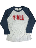 Y'all Wild Flower Baseball Tee