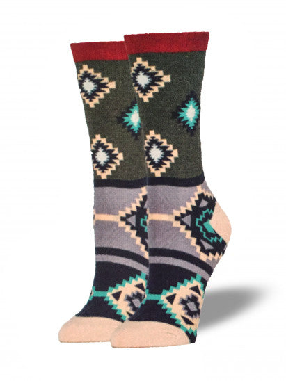 Womens Navajo Camp Socks