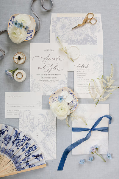 Blue Wedding Inspiration | Chinoiserie Theme