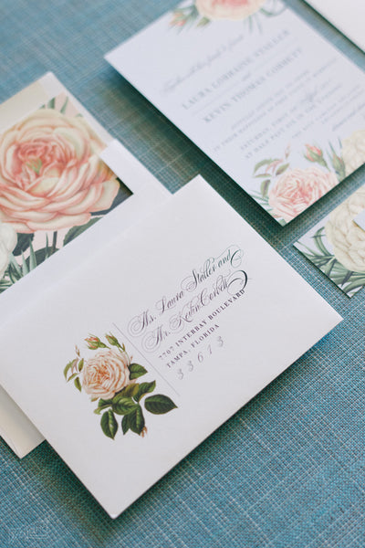 Real Weddings | Custom Botanical Invitation