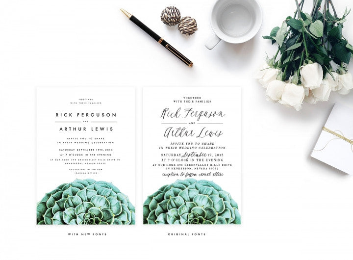 SAME-SEX WEDDING INVITATION