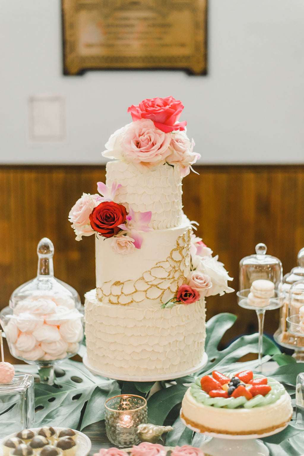 Bougainvillea Tropical Wedding Destination Inspiration All Saints Events Ottawa Wedding Cake Dessert Table Citrus Press Co