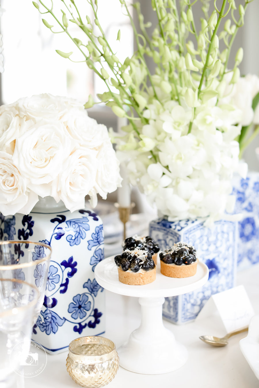 Blue Wedding Inspiration Tablescape
