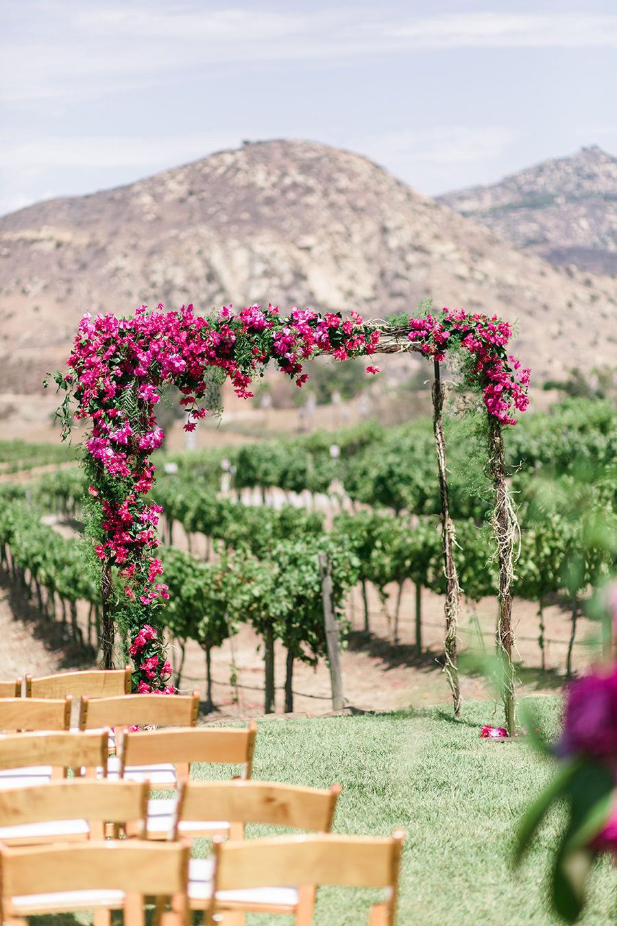 Bougainvillea Wedding Arbor Arch