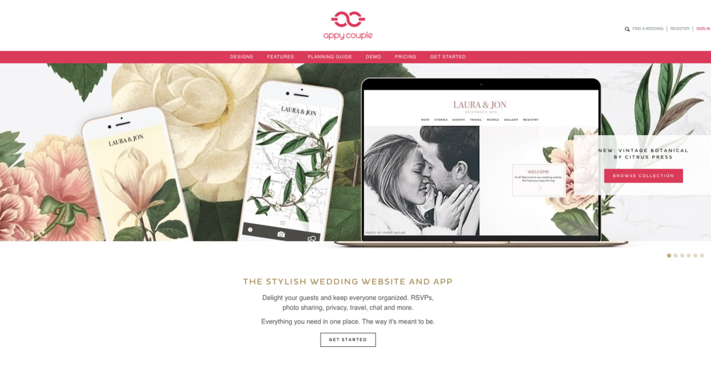 Find A Couple S Wedding Website.Wedding Invitations Appycouple Wedding App