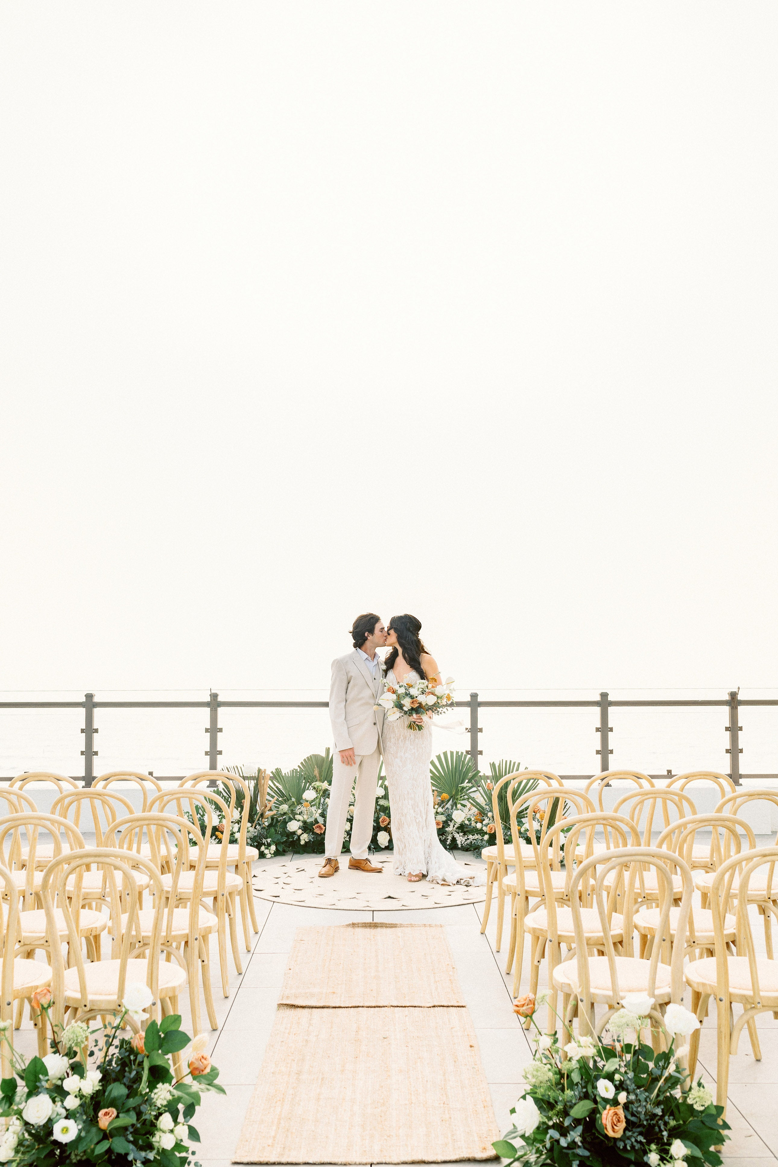 Roofto Roof Top Beach Wedding Florida Tampa St.Pete Barefoot Beach Hotel