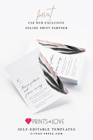 Print Editable Wedding Invitation Template Printables