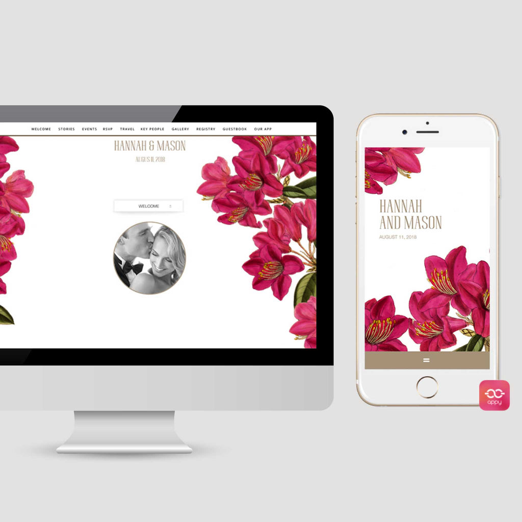 Bougainvillea wedding website appycouple app