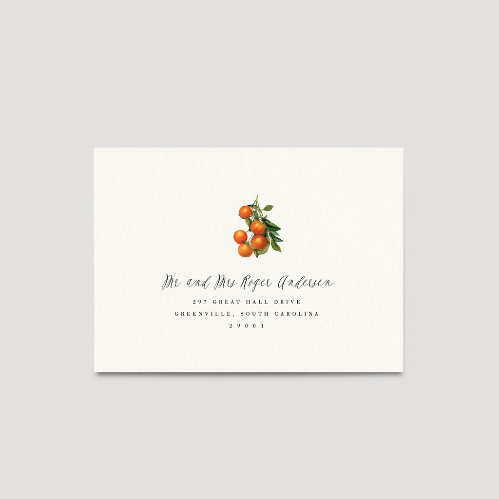 Florida Destination wedding Oranges Invitation