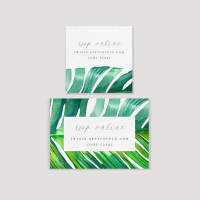 Tropical Invitation Gift Tag