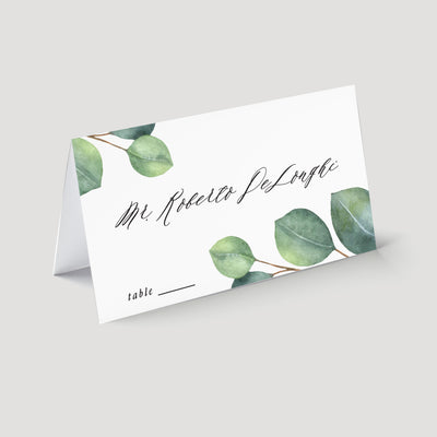 Eucalyptus wedding place card