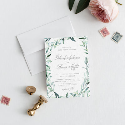 PDF DIY Eucalyptus Wedding Invitation