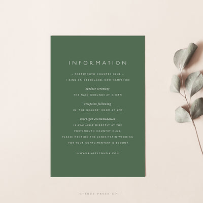 Wildflower Greenery Woodland Wedding Invitation