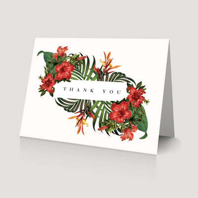 Tropical Destination Wedding Thank You card