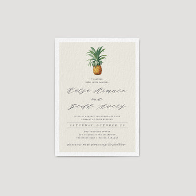 Pineapple wedding invitation