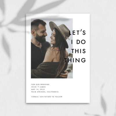 Lets I Do This Thing Save The Date Self Editable Wedding Template