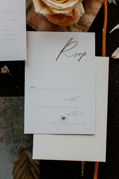 Modern Minimal Wedding Invitation Suite