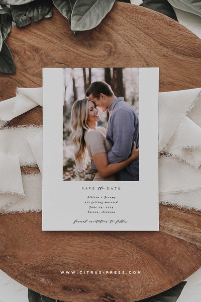Modern Simple Photo Save the Date Announcement Card