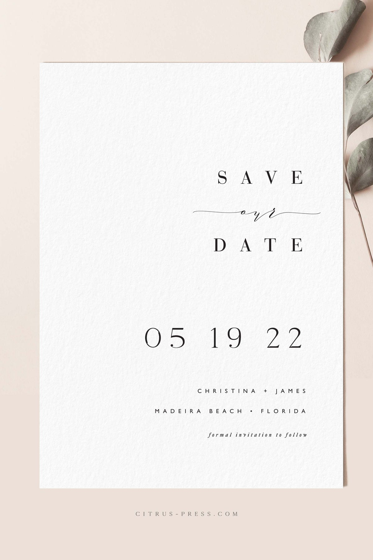 Modern Save The Date