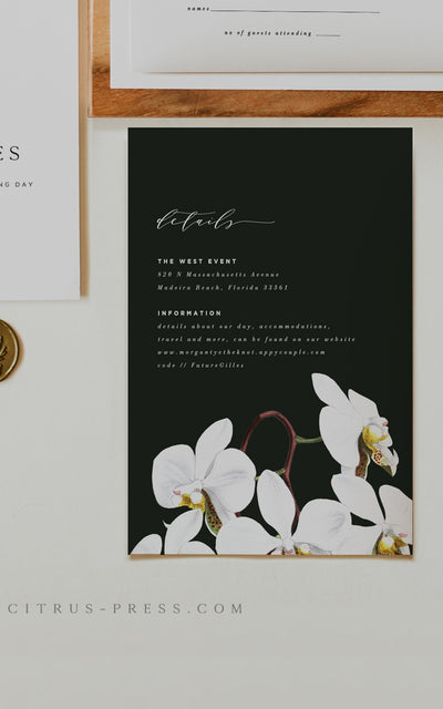 Orchid Enclosure Details Card