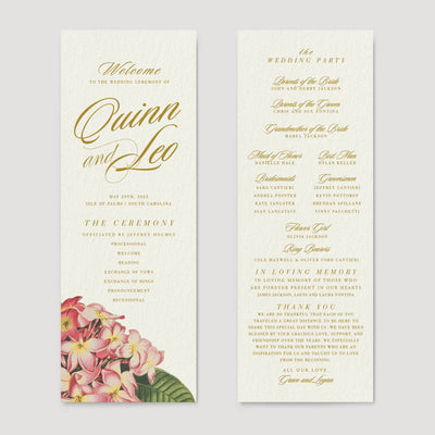wedding reception program destination Hawaii