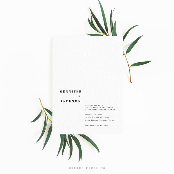 Gallery Minimalist Wedding Invitations: Minimalist Modern Simple Wedding Invitation