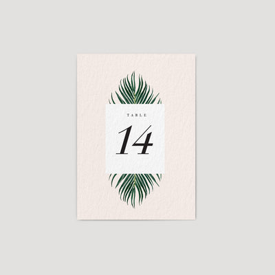 Beach Wedding Table numbers