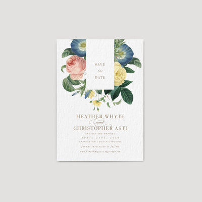 Elegant Save the date card