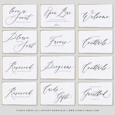 Wedding Signs Instant download