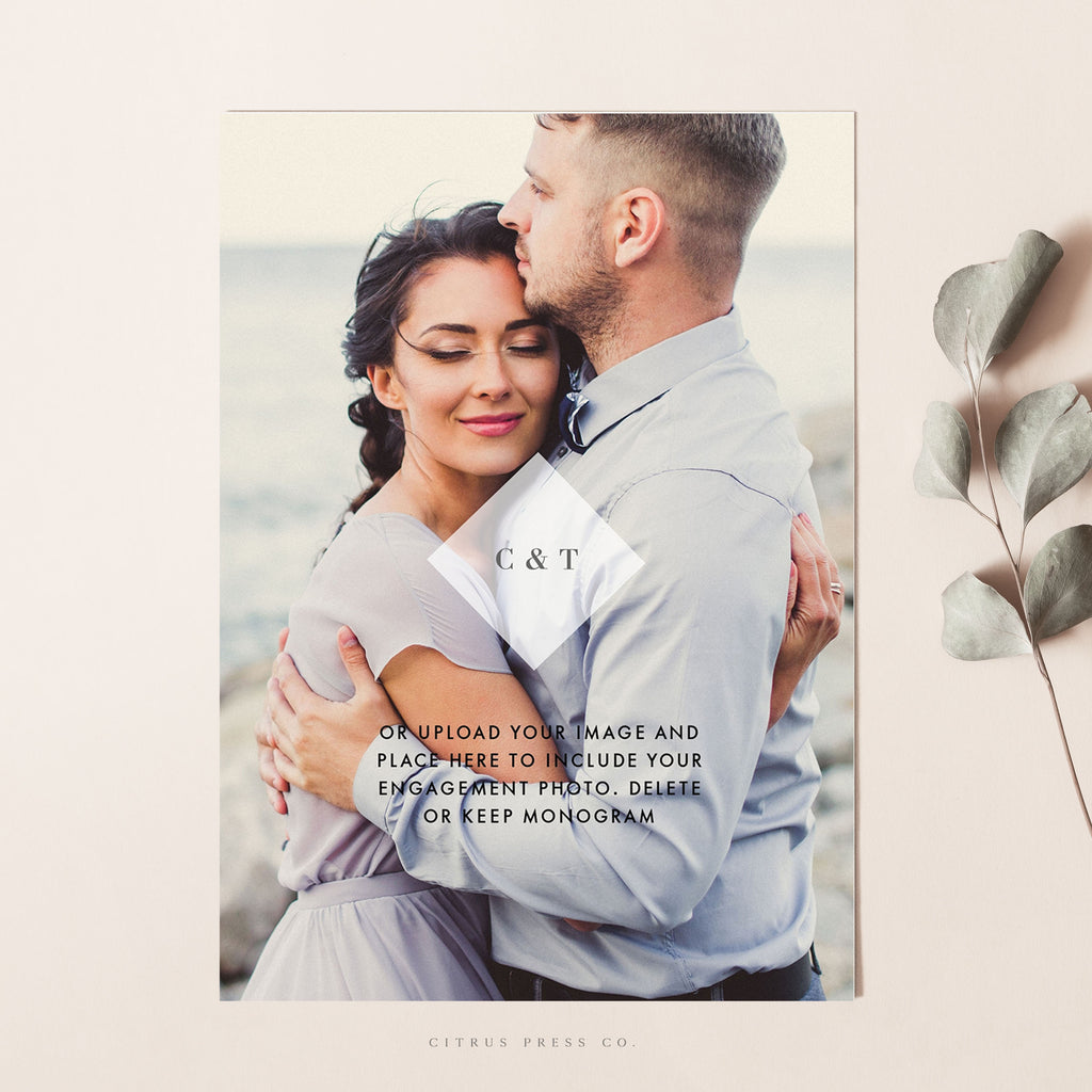 Greenery Eucalyptus Wedding Invitation PDF DIY Self Editable Template