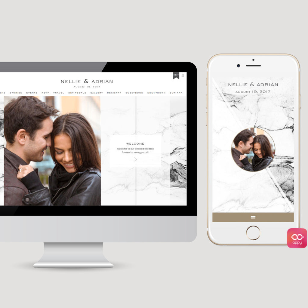 Urban Marble Wedding Invitation App Appycouple