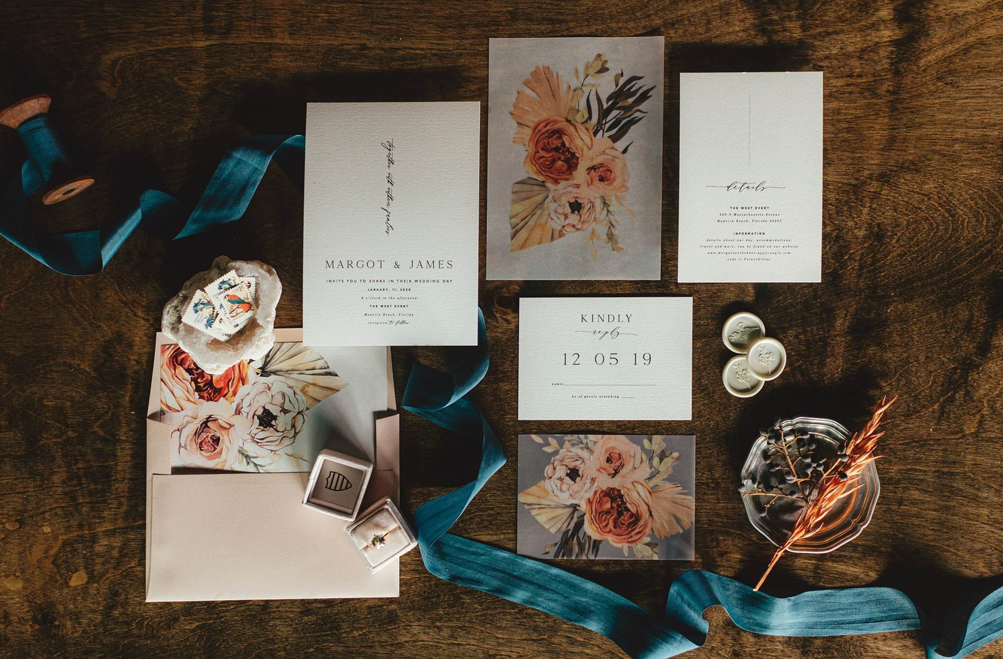 Eucalyptus Wedding invitation stationery